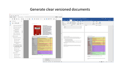 Generate clear versioned documents